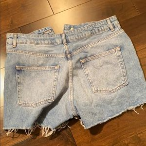 Topshop Shorts - Topshop Moto Mom Distressed Jean Shorts